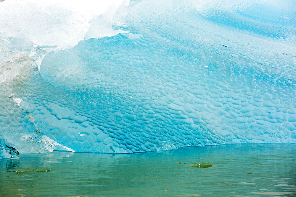 An iceberg from a glacier in northern Svalbard. All of Svalbards glaciers are retreating, even in the north of the archiapelago despite only being around 600 miles from the North Pole.