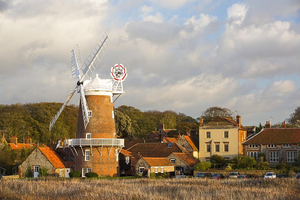 A windmill in Cley, Norfolk, UK.