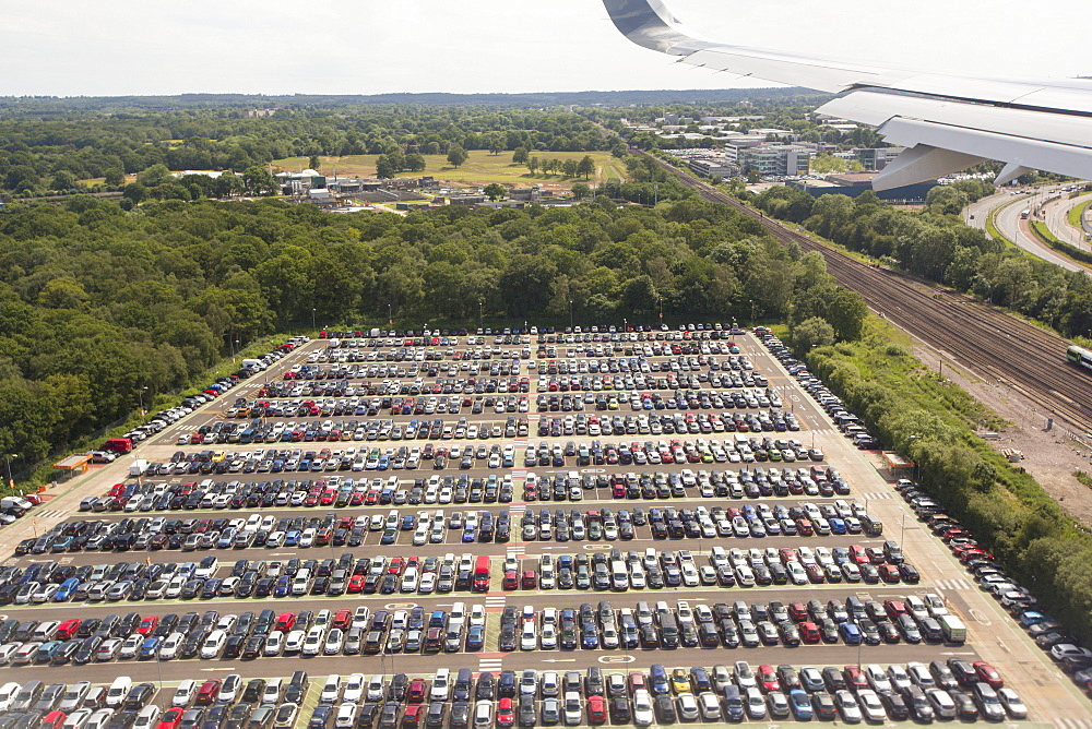 An airport carpark at Gatwick airport, UK.