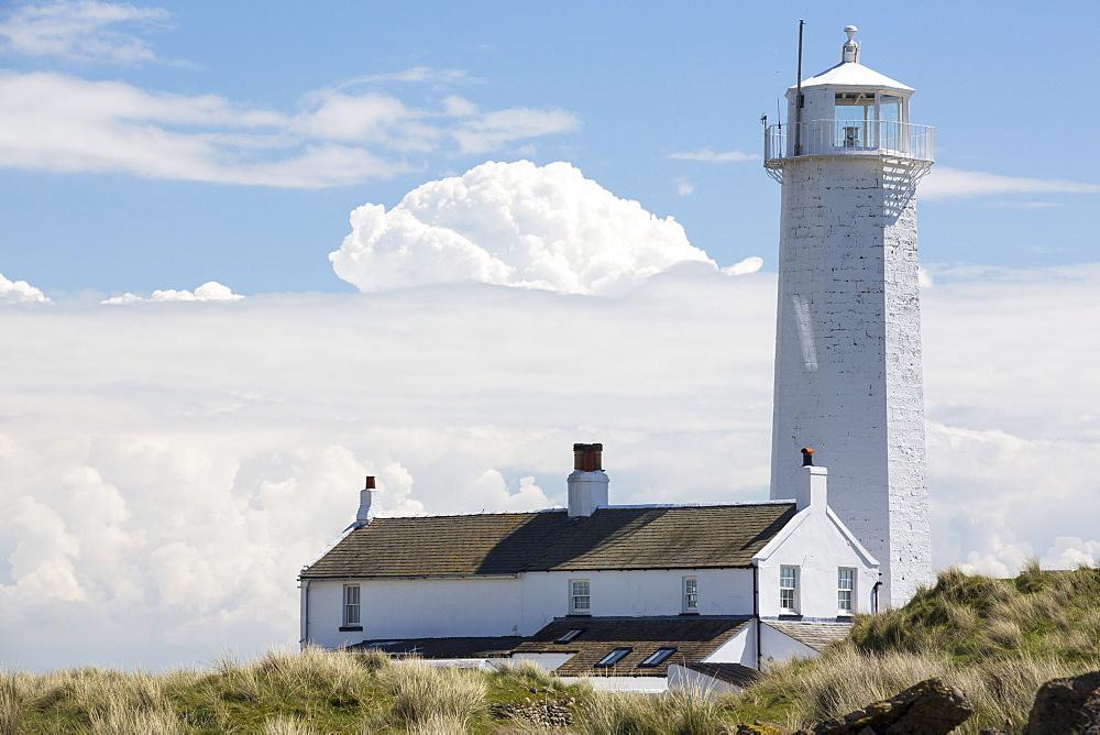 The lighthouse on Walney Island, Cumbria, UK.