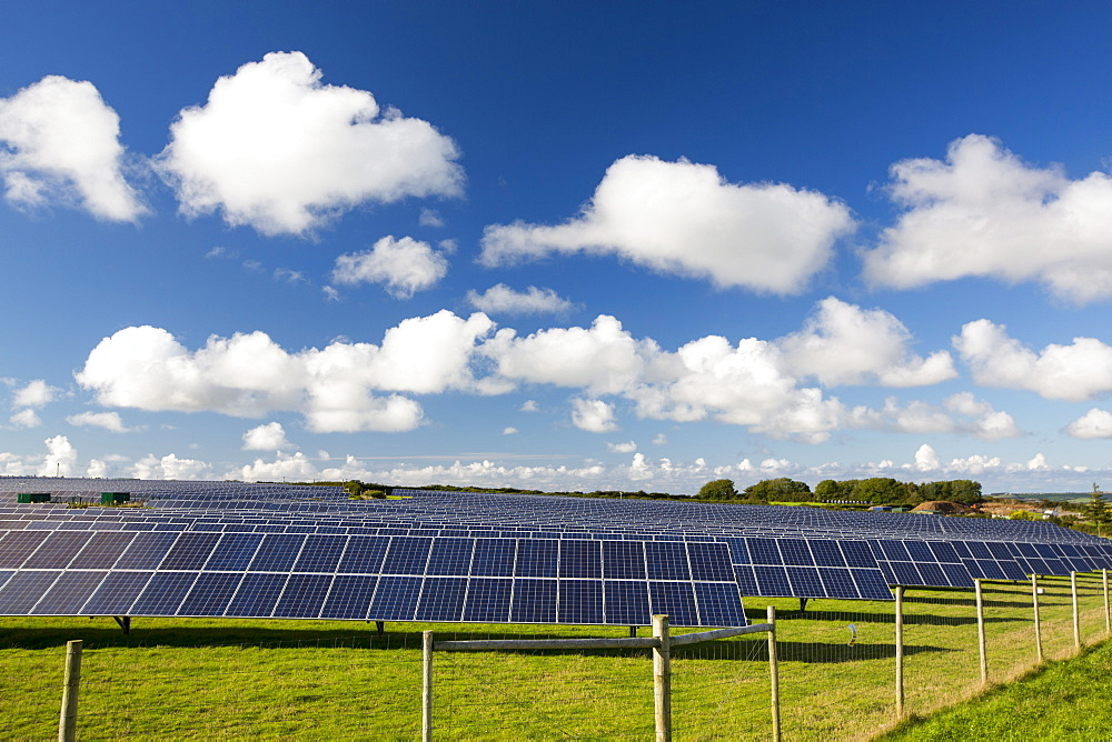 A farm based solar plant near wadebridge, Cornwall, UK,