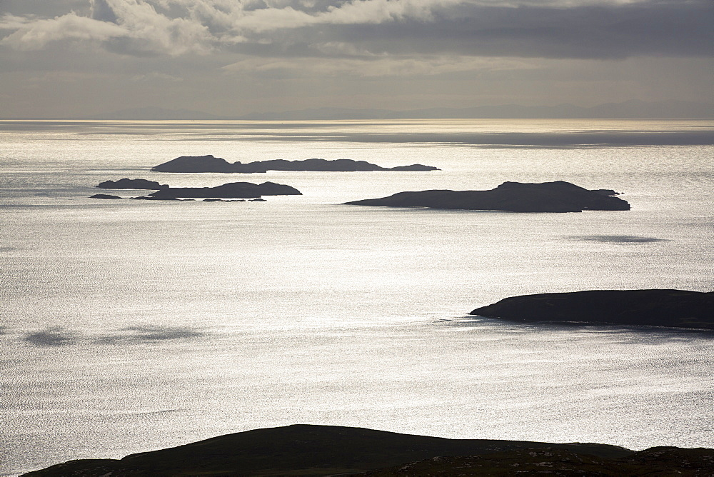 The Summer Isles off Ullapool in the Highlands, Scotland, UK, from Ben Mor Coigach. - 911-10952