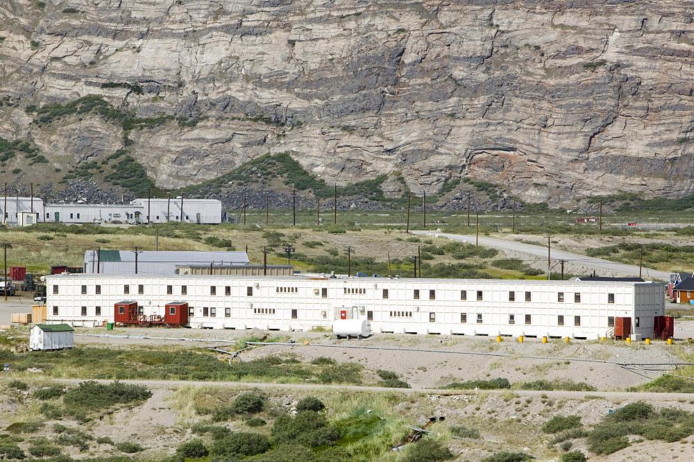 A hotel at Kangerlussuaq in Greenland, Polar Regions