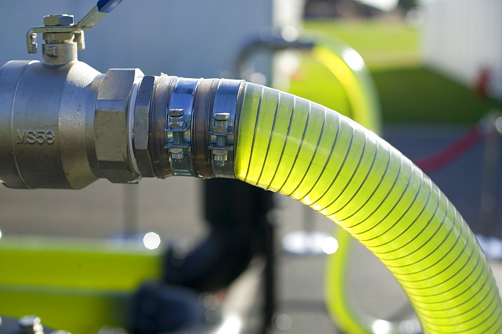 An AlgaeLink algae growing system that is harvested to make ethanol and biodiesel
