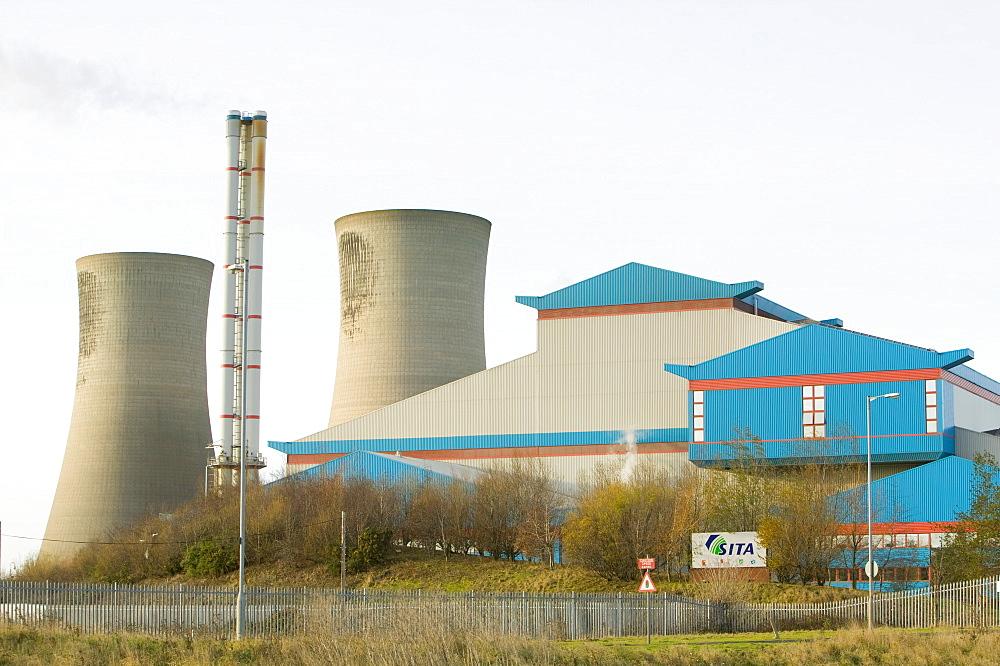An energy plant that burns household waste on Teesside, England, United Kingdom, Europe