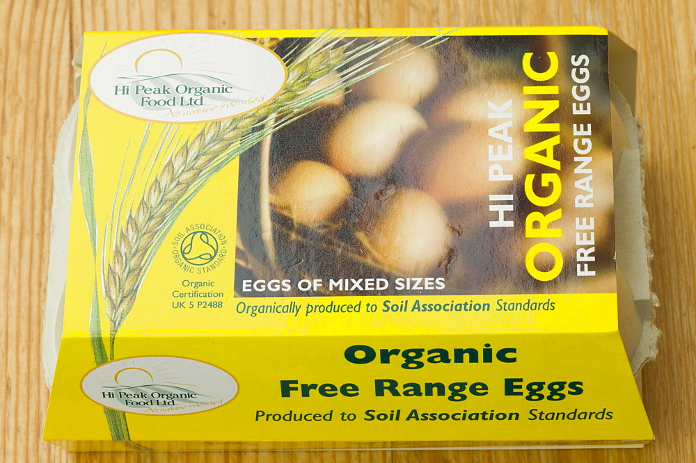 Prganic free range eggs, United Kingdom, Europe