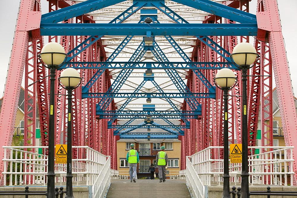 A bridge in Salford Quays, Manchester, England, United Kingdom, Europe