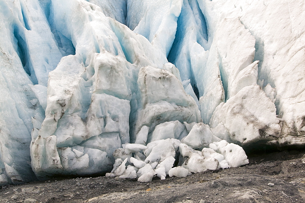 Exit Glacier has retreated rapidly due to global warming, Kenai Fjords National Park, Alaska, United States of America, North America