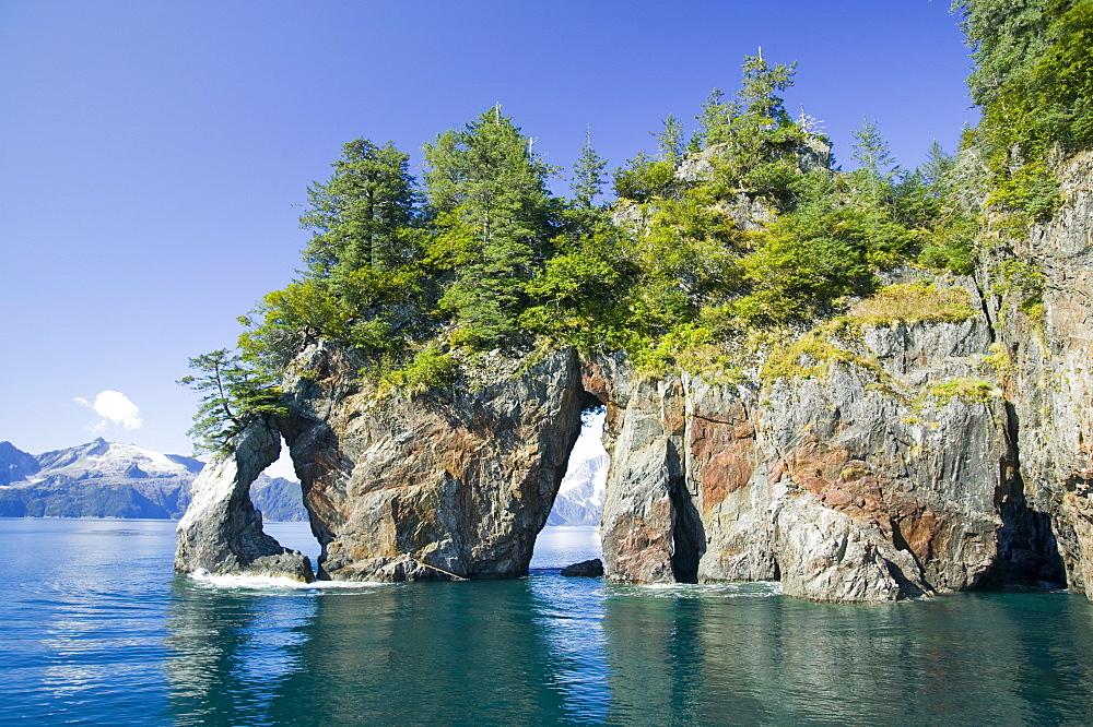Coastal scenery in the Kenai Fjords National Park in Alaska, United States of America, North America