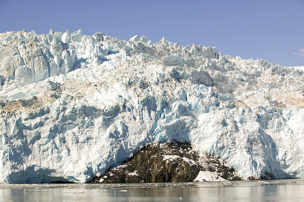 Aialick Glacier receding rapidly due to climate change, in Kenai Fjords National Park in Alaska, United States of America, North America