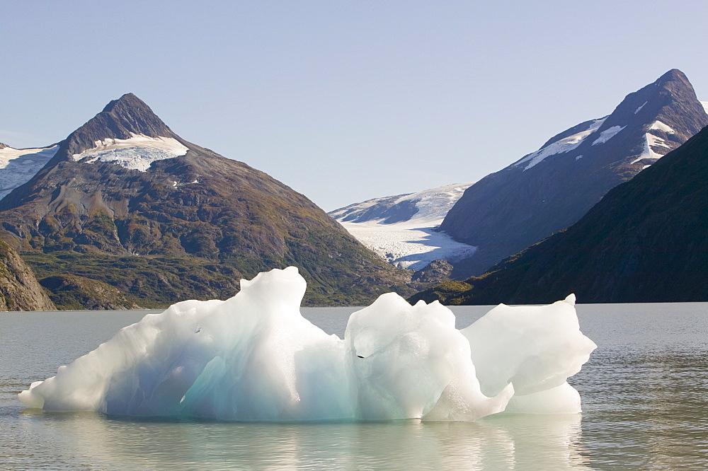 Icebergs from the Portage Glacier in Alaska, United States of America, North America