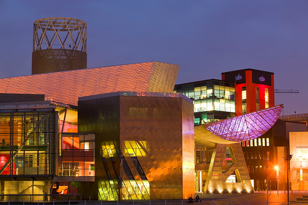 The Lowry Centre in Salford Quays, Manchester, England, United Kingdom, Europe