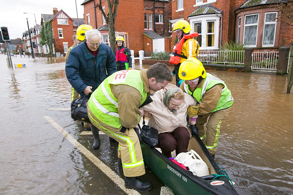 In January 2005 a severe storm hit Cumbria that created havoc on the roads and toppled over  one million trees, Carlisle, Cumbria, England, United Kingdom, Europe