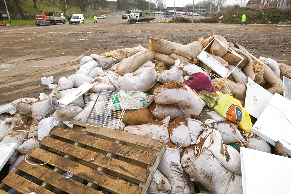 The aftermath of the Carlisle floods in 2005, Cumbria, England, United Kingdom, Europe