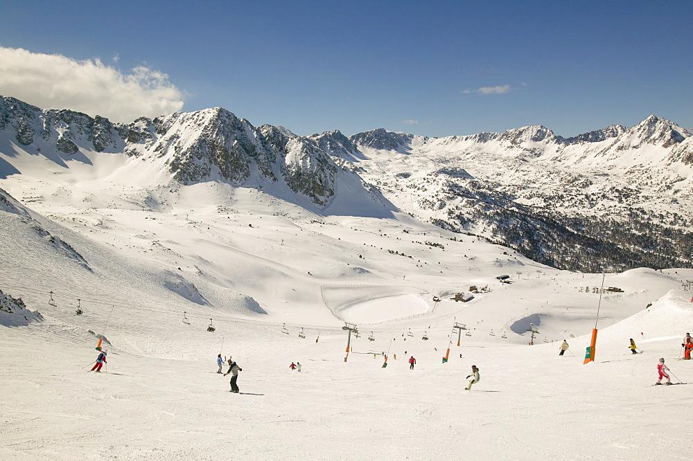 The Andorran ski resort of Soldeu, Andorra, Pyrenees, Europe