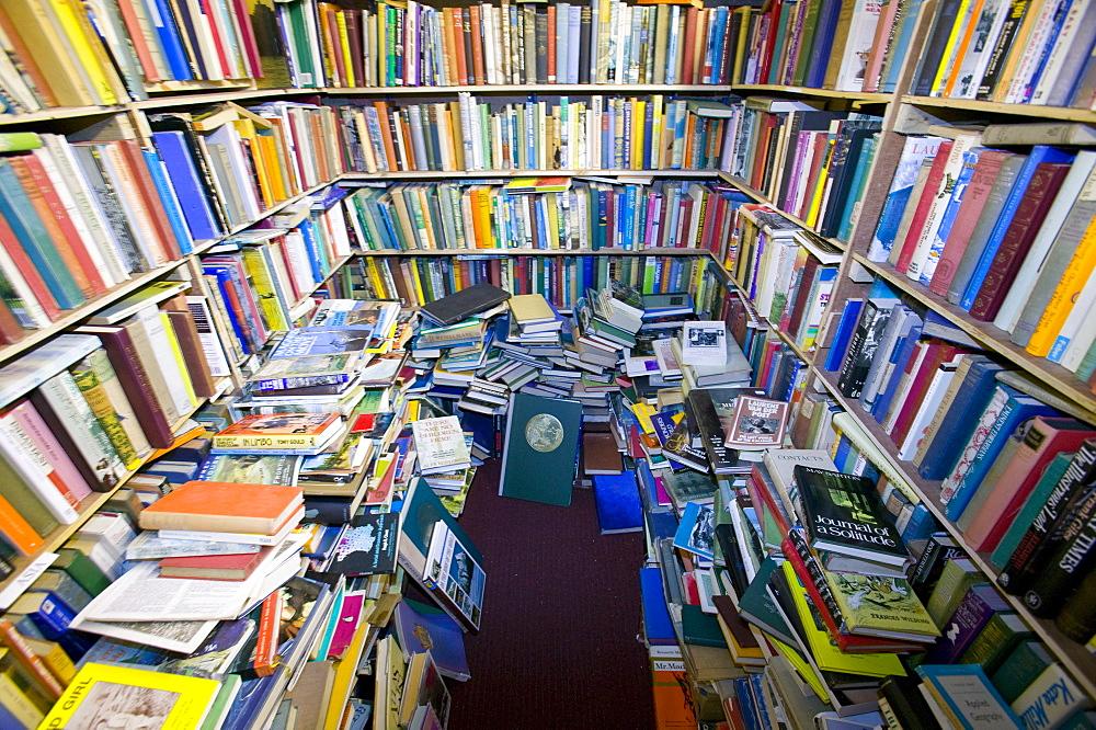 A second hand bookshop, Kirkudbright, Scotland, United Kingdom, Europe