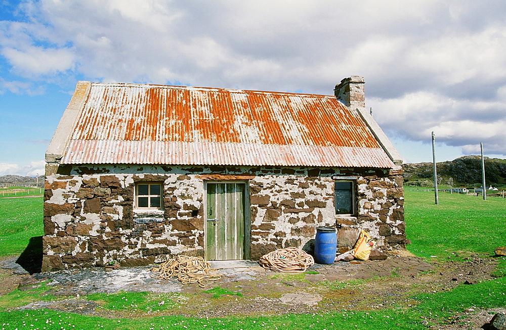 An old fisherman's cottage at Stoer, Sutherland, northwest Scotland, United Kingdom, Europe