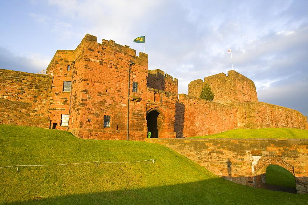 Carlisle Castle in Cumbria, England, United Kingdom, Europe