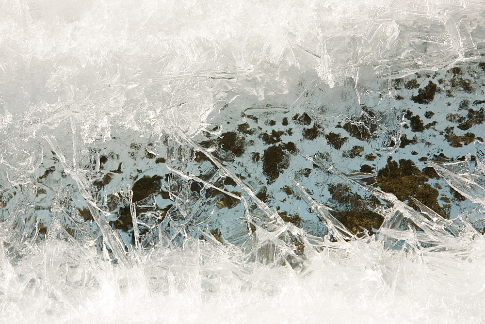 Meltwater on the Greenland ice sheet near camp Victor north of Ilulissat, Greenland, Polar Regions