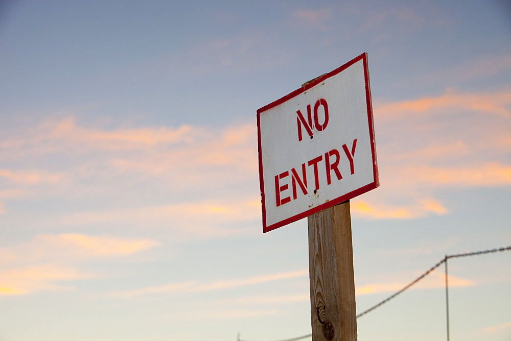 A no entry sign in Dubai, United Arab Emirates, Middle East