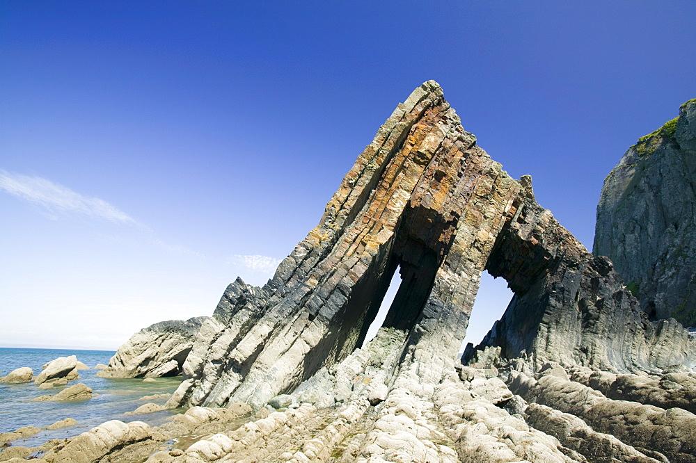 Black Church Rock near Clovelly in Devon, England, United Kingdom, Europe