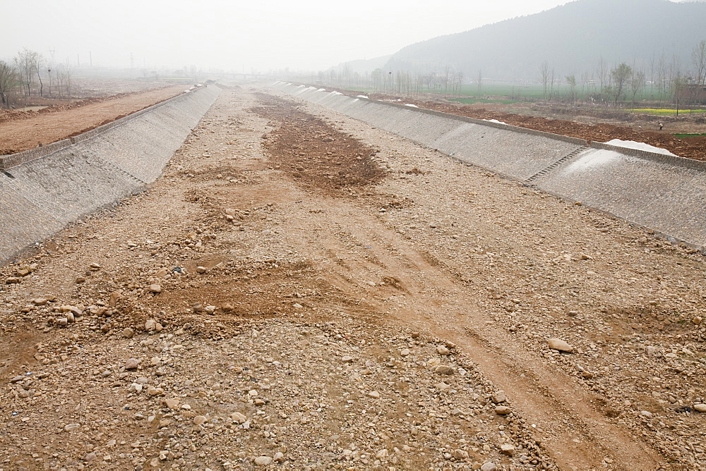 A completely dried up river in Shanxi province, China, Asia - 911-4519