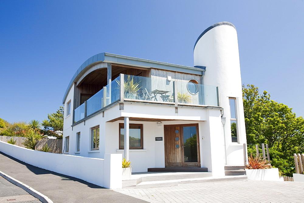 An architect designed house in Ilfracombe, North Devon, England, United Kingdom, Europe