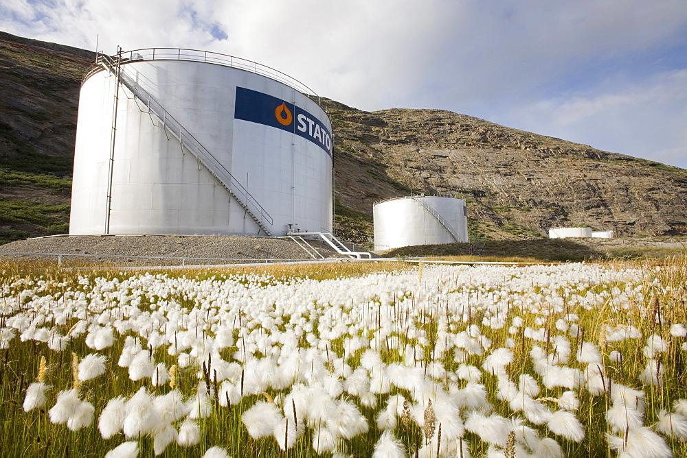 An oil storage depot in Kangerlussuaq, Greenland, Polar Regions
