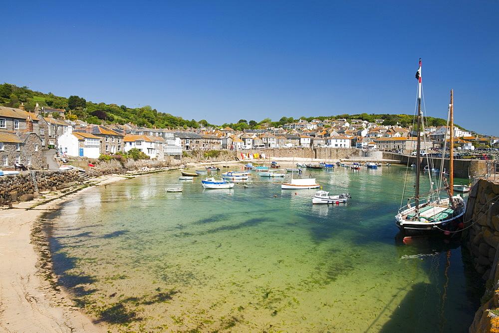 The pretty fishing village of Mousehole near Newlyn in Cornwall, England, United Kingdom, Europe