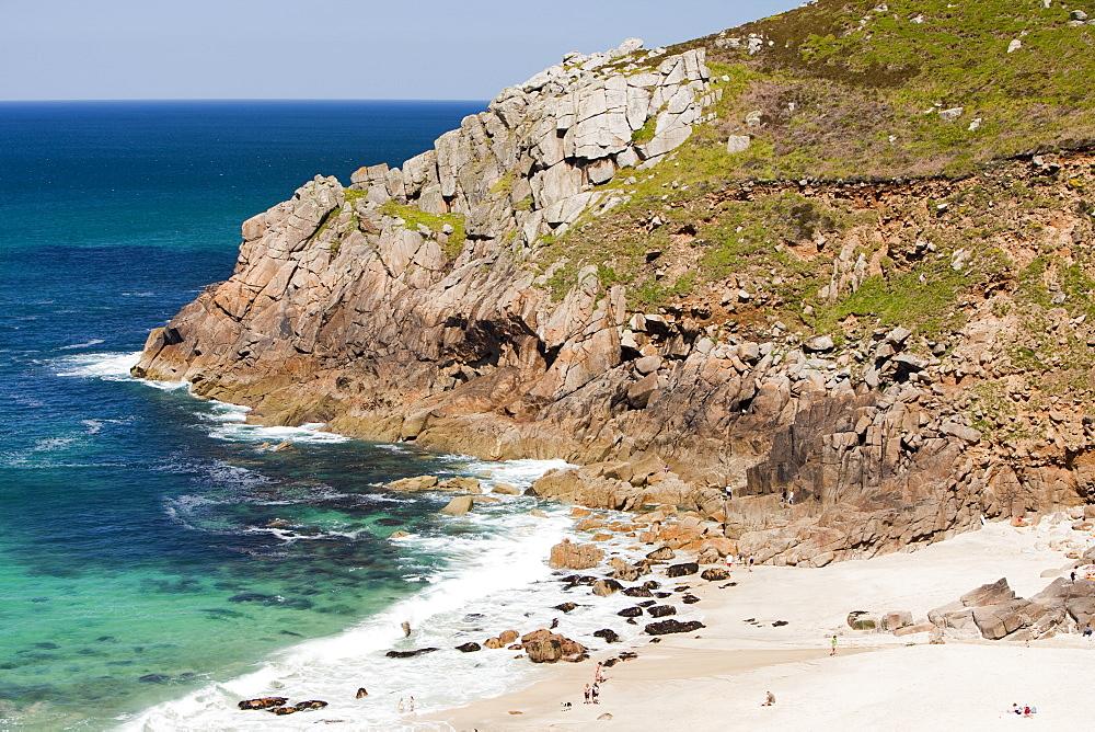 Portheras Cove near St. Just on the North Cornish coast, Cornwall, England, United Kingdom, Europe