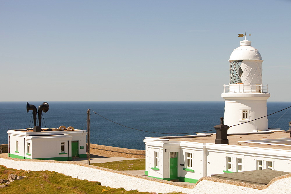 Pendeen Watch lighthouse near St. Just in Cornwall, England, United Kingdom, Europe