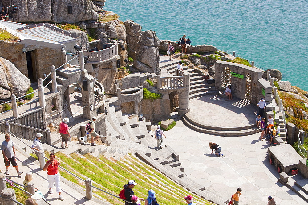 The Minack theatre at Porthcurno in Cornwall, England, United Kingdom, Europe