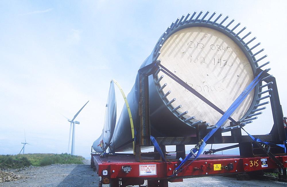 Constructing a new wind farm at Lambrigg between Kendal and Sedburgh, Cumbria, England, United Kingdom, Europe