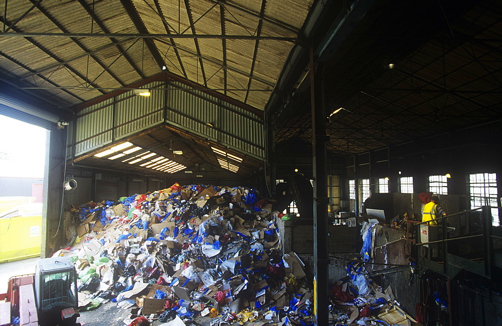 A recycling plant in Carlisle, Cumbria, England, United Kingdom, Europe