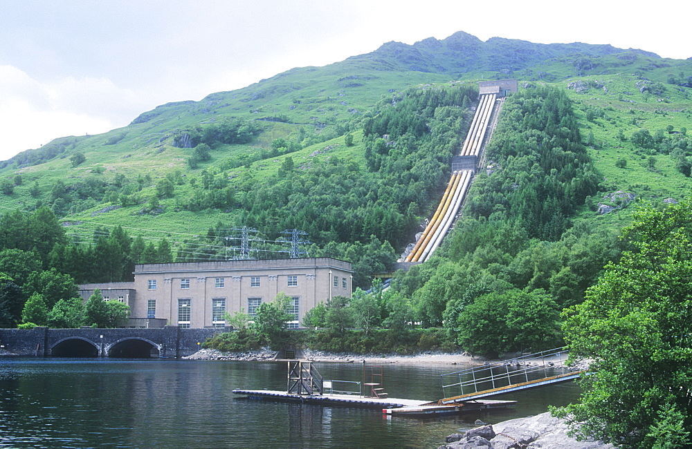 A hydro electric power station on the shores of Loch Lomond, Scotland, United Kingdom, Europe