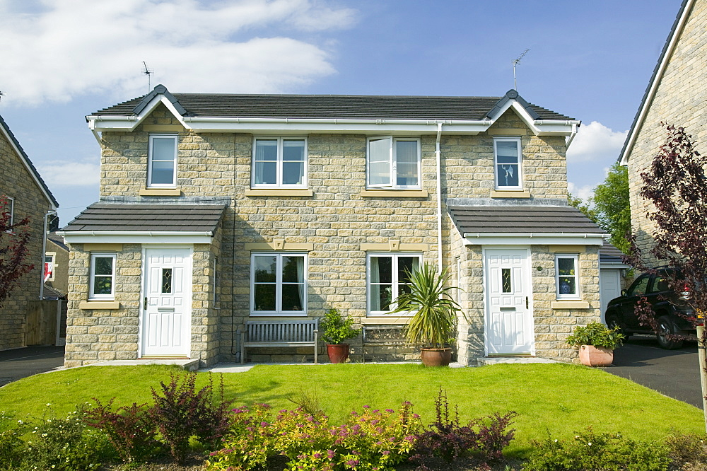New houses in Clitheroe, Lancashire, England, United Kingdom, Europe