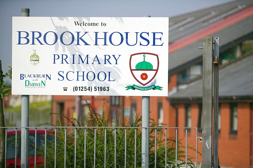 A junior school in a Pakistani area of Blackburn, Lancashire, England, United Kingdom, Europe