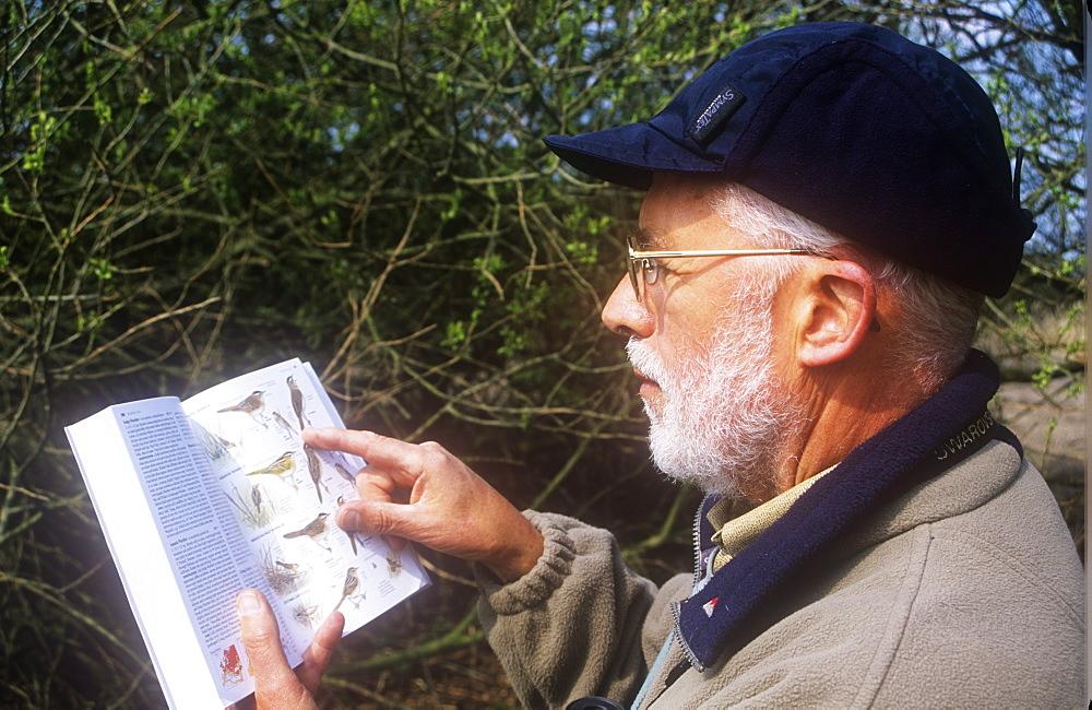 Tony Cooper a volunteer bird surveyor for the British Trust for Ornithology, United Kingdom, Europe