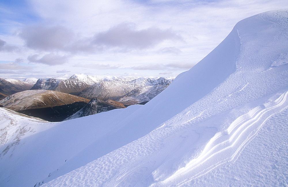 The Glen Coe hills in winter, Scotland, United Kingdom, Europe