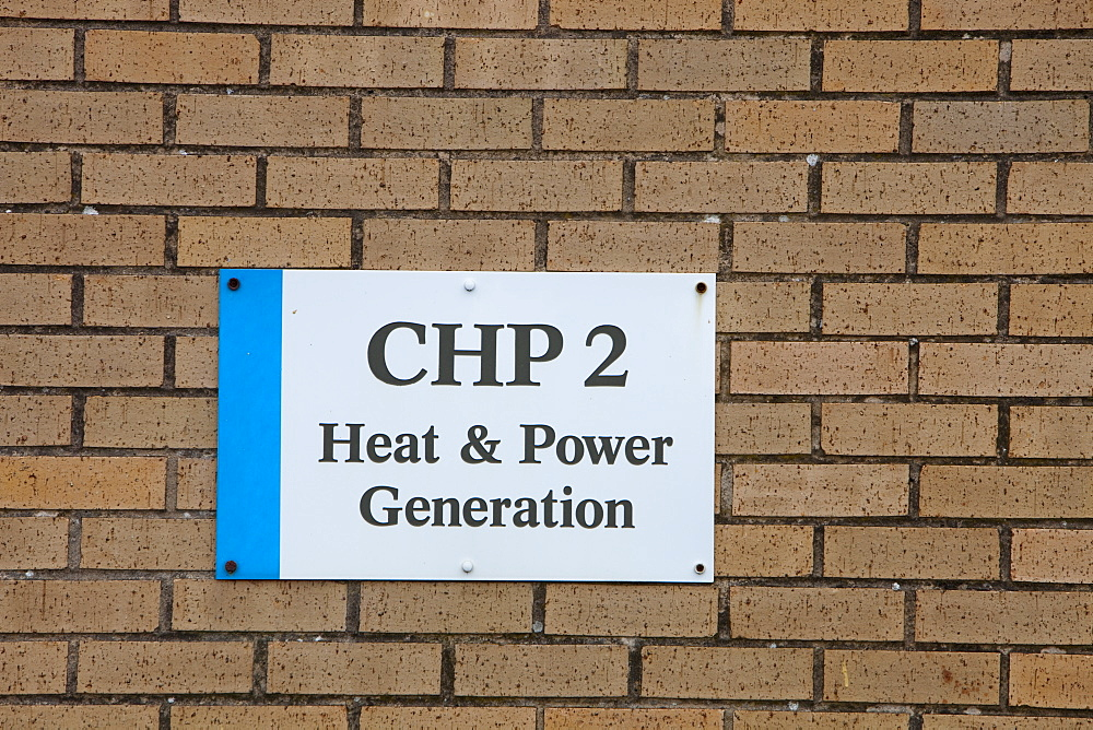 A combined heat and power plant at Daveyhulme waste water treatment plant, Manchester, England, United Kingdom, Europe