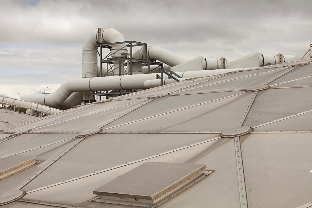 The odour suppressant plant at Daveyhulme wastewater treatment plant in Manchester, England, United Kingdom, Europe