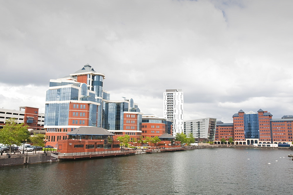 New apartment blocks at Salford Quays in Manchester, England, United Kingdom, Europe