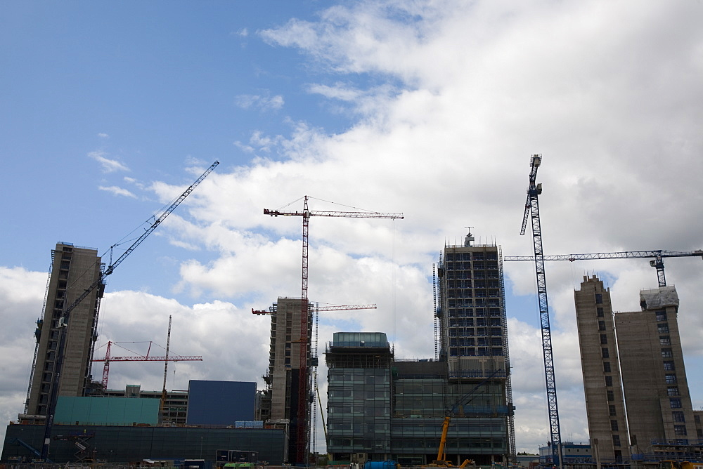 Media city being built in Salford Quays, Manchester, England, United Kingdom, Europe