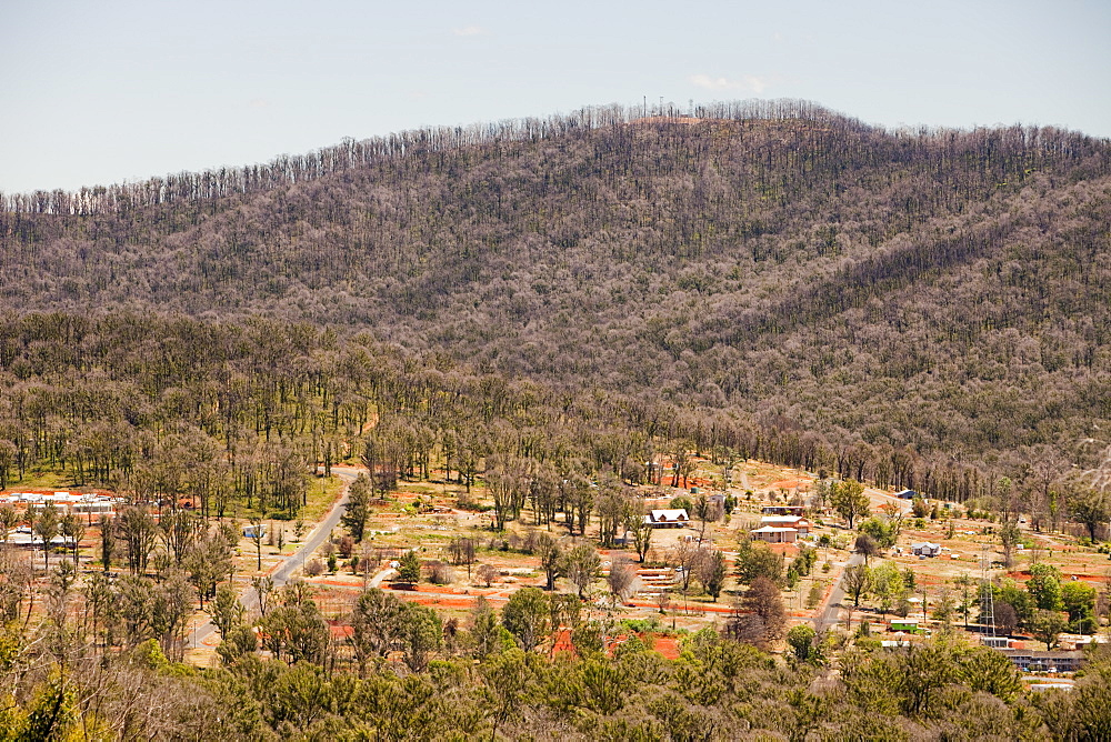 The centre of Marysville destroyed by the bush fires, it was one of the worst affected communities of the catastrophic 2009 Australian Bush Fires in the state of Victoria, Australia, Pacific