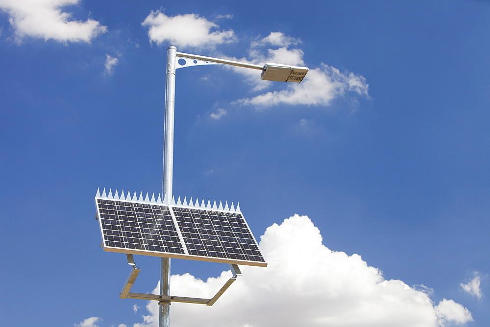 A solar powered street lamp in Victoria, Australia, Pacific