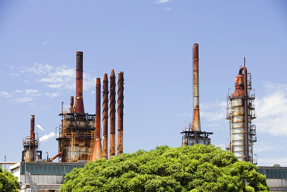The Caltex oil refinery on the outskirts of Sydney, New South Wales, Australia, Pacific
