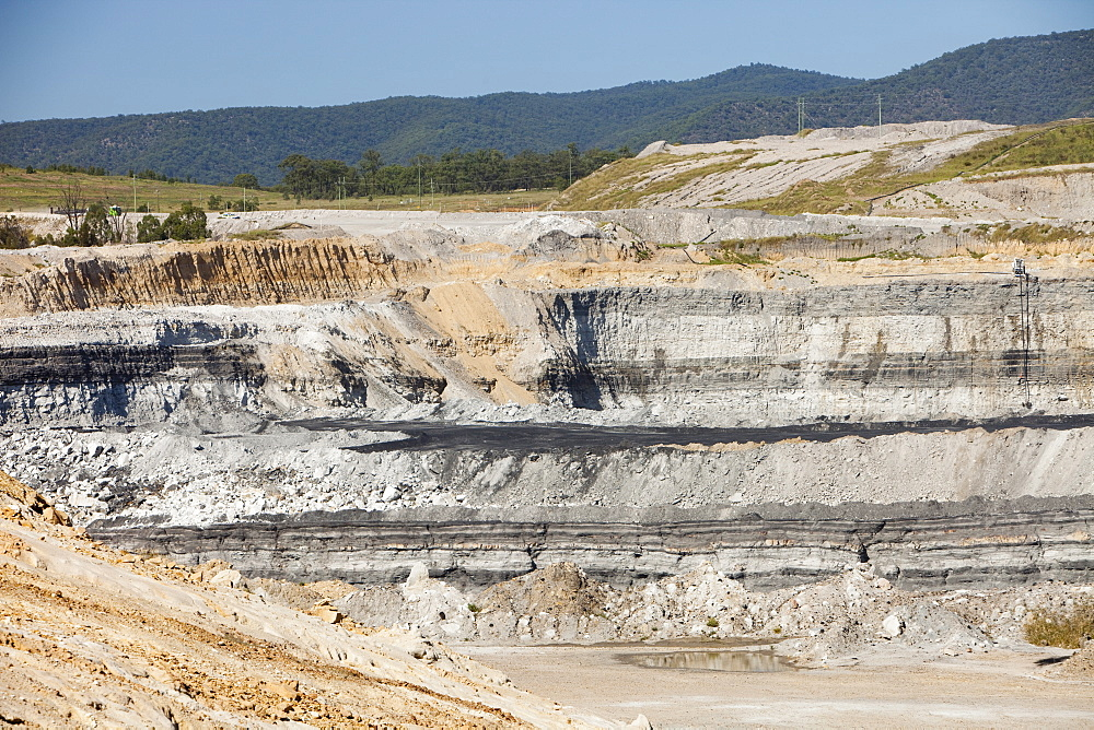 The Beltana number 1 mine, an open cast or drift coal mine managed by Xstrata coal in the Hunter Valley, New South Wales, Australia, Pacific