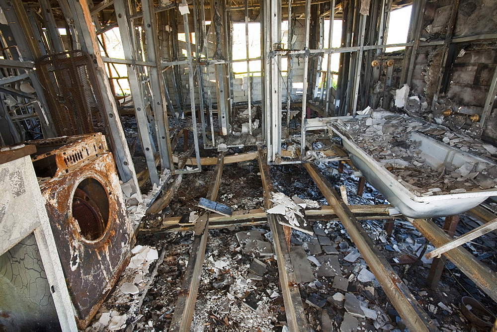 A house belonging to Allan Lehepuu in the mountains near Michelago that was destroyed by bush fires in December 2009, New South Wales, Australia, Pacific