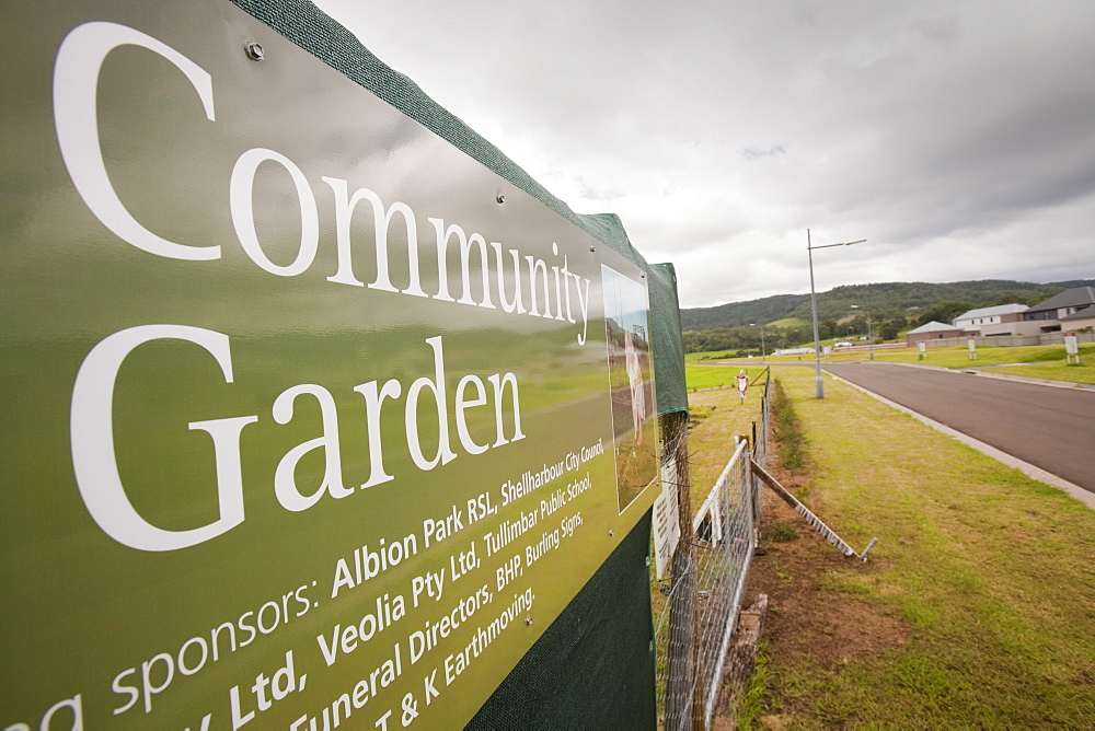 A community garden in a new housing development near Macquarie Pass National Park, New South Wales, Australia, Pacific