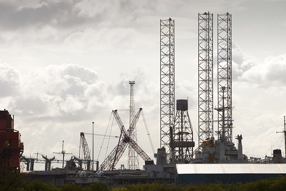 The highly polluted ghost ships being dismantled in a shipyard on the outskirts of Hartlepool, Cleveland, England, United Kingdom, Europe